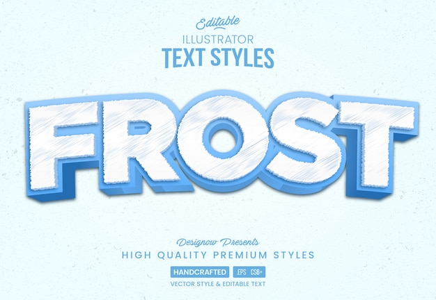 Ice frost text style Premium Vektoren