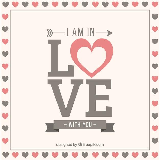 Ich bin in dich verliebt hintergrund | Kostenlose Vektor