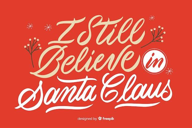 Ich glaube immer noch an den weihnachtsmann-schriftzug Kostenlosen Vektoren