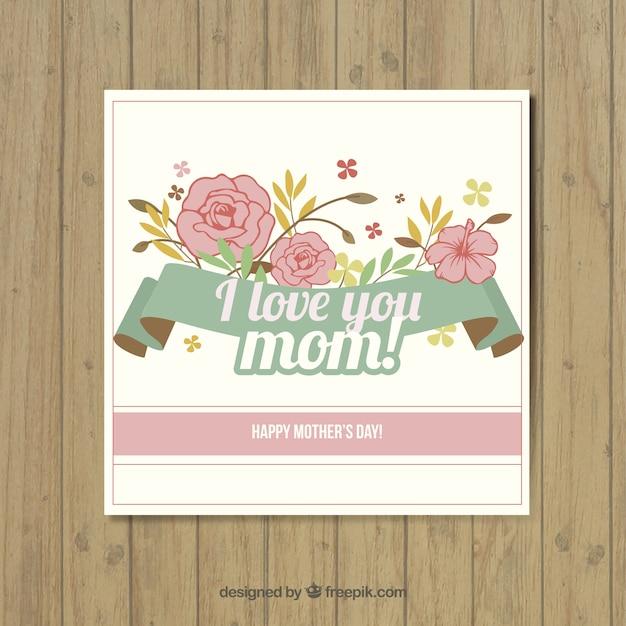 ich liebe dich mama nette karte download der kostenlosen vektor. Black Bedroom Furniture Sets. Home Design Ideas