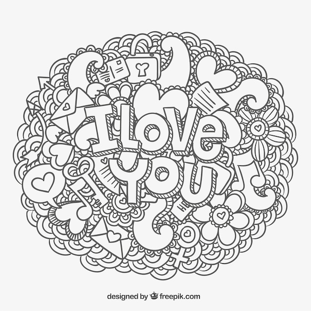 Free Adult Coloring Page Valentines Card