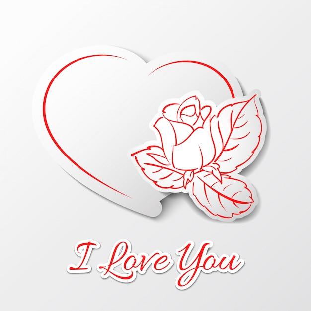 Ich liebe dich! valentinstag. Kostenlosen Vektoren