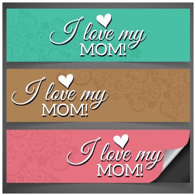 Ich liebe meine mamma-mutter tages facebook banner