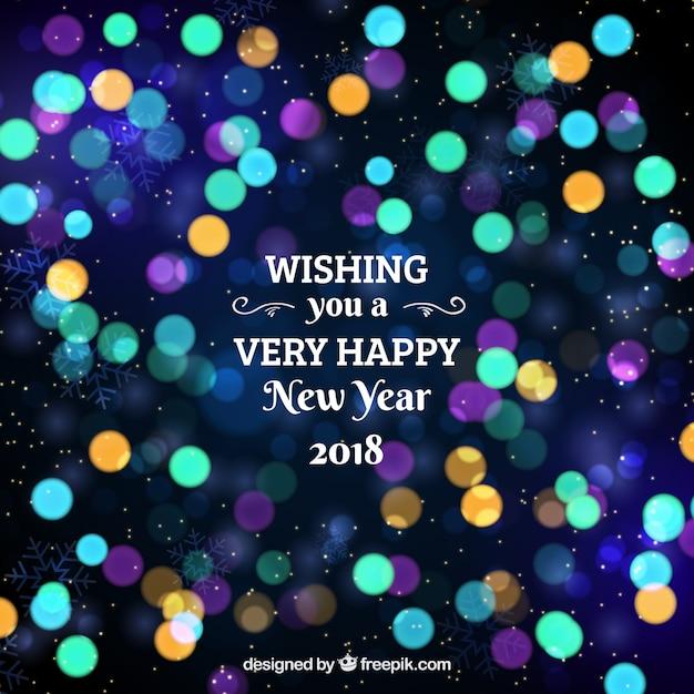 Ich wünsche Ihnen ein frohes neues Jahr unscharfen Hintergrund ...
