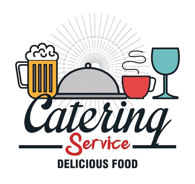 Icon catering-service-food-design Premium Vektoren