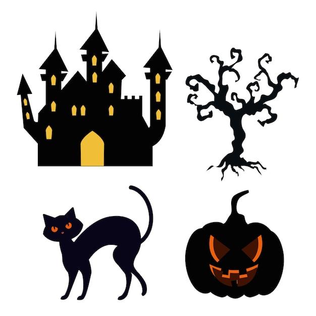Icons set von happy halloween Premium Vektoren