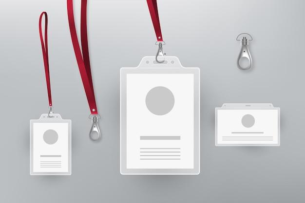 Id-karte briefpapier sammlung design Kostenlosen Vektoren