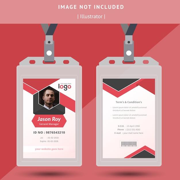 Id-karten-design Premium Vektoren