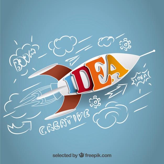 Idea Raketen Kostenlose Vektoren