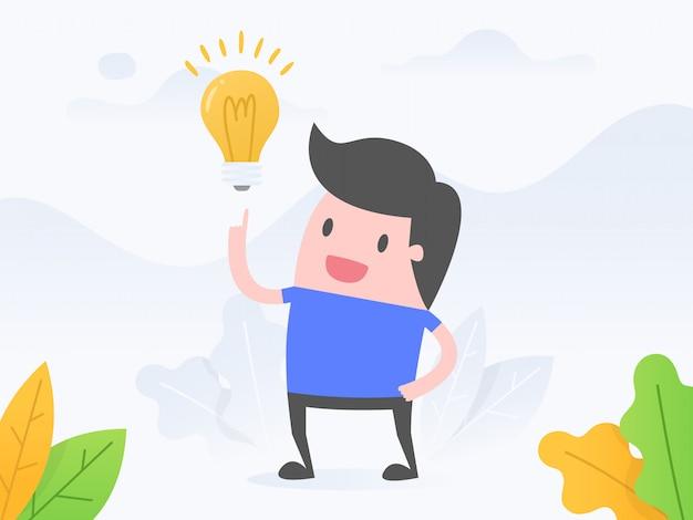 Idee und innovation. Premium Vektoren