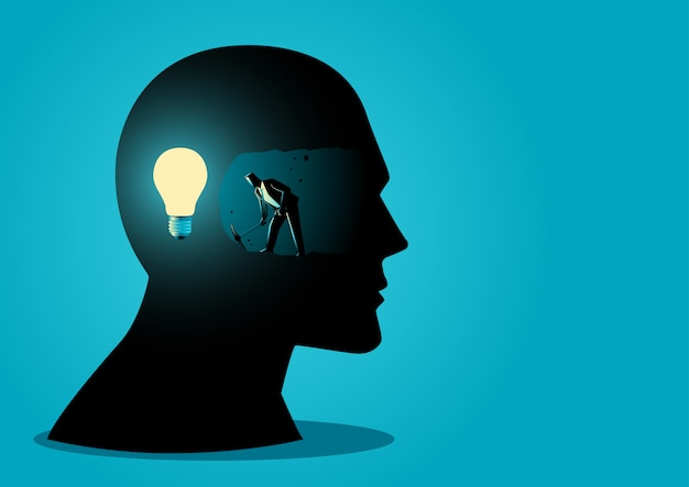 Ideen suchen Premium Vektoren