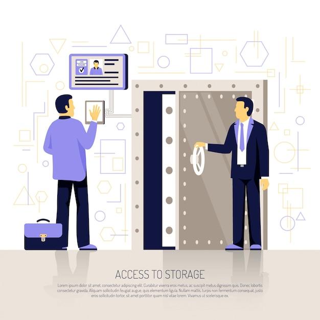 Identification technologies flache zusammensetzung Kostenlosen Vektoren