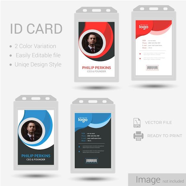 Identifikation oder id-karten-design. Premium Vektoren