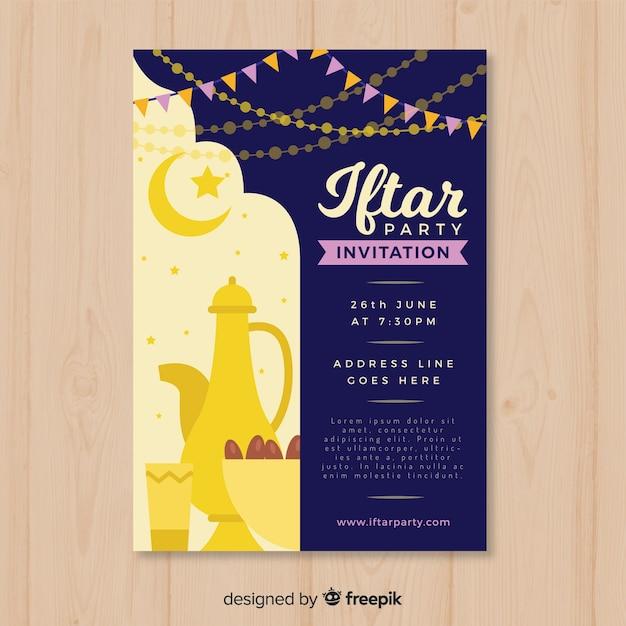 Iftar-einladungsparty Kostenlosen Vektoren