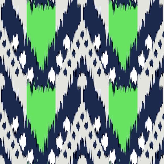 Ikat Nahtlose Muster Als Stoff, Vorhang, Textildesign, Tapete,  Oberflächenstruktur Hintergrund Premium Vektoren