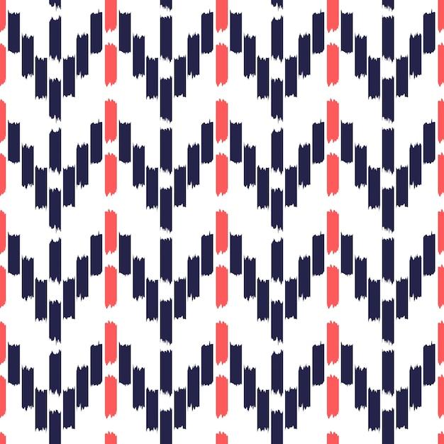 Ikat seamless pattern design Premium Vektoren
