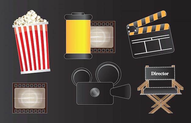 Ikonen des films Premium Vektoren