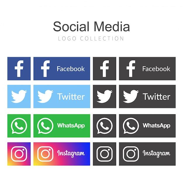 Ikonen für soziales vernetzungsvektor-illustrationsdesign Kostenlosen Vektoren
