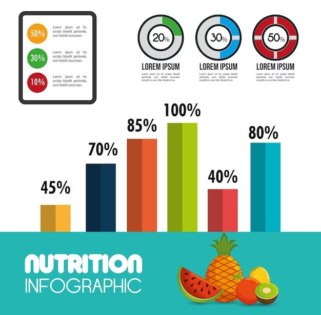 Ikonen-vektorillustration env 10 des nahrungslebensmittels infographic Premium Vektoren