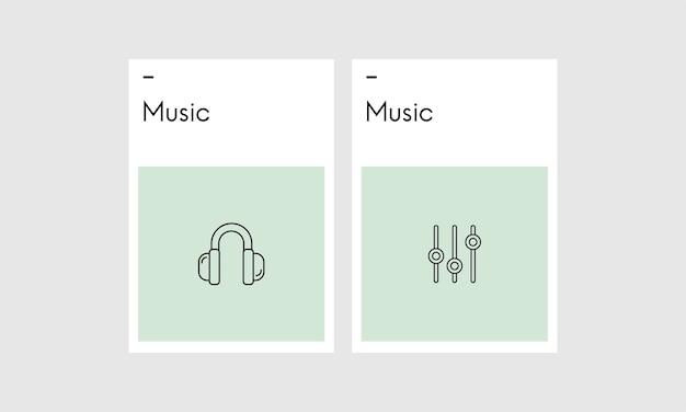 Illustation von musik concpet Kostenlosen Vektoren