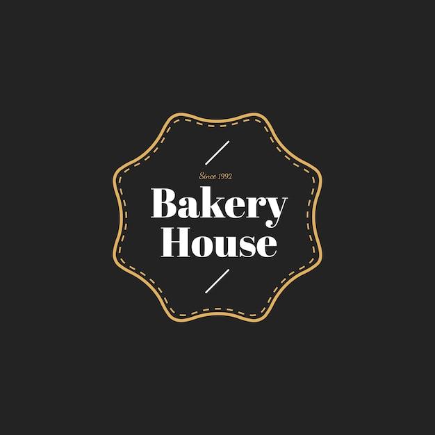 Illustration der bäckereihaus-stempelfahne Kostenlosen Vektoren
