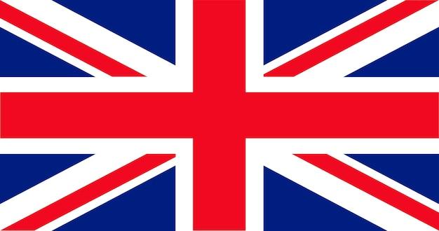 Illustration der britischen flagge Kostenlosen Vektoren