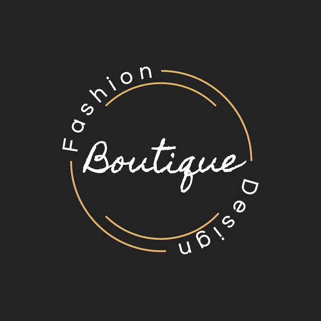 Illustration der butikenshop-logostempelfahne Kostenlosen Vektoren
