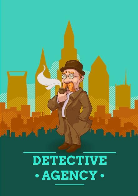 Illustration der detektivagentur Kostenlosen Vektoren