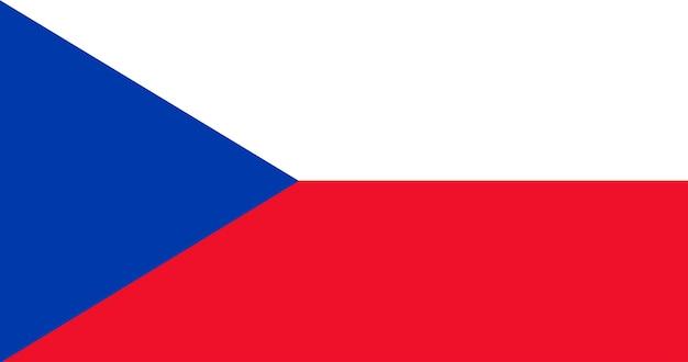 Illustration der flagge der tschechischen republik Kostenlosen Vektoren