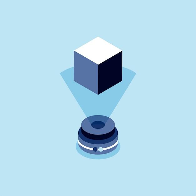 Illustration der holographischen technologie Kostenlosen Vektoren