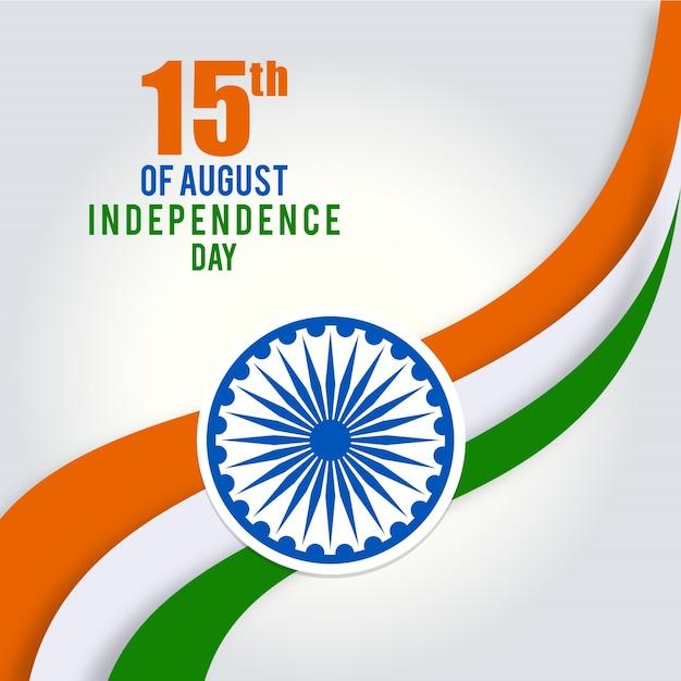 Illustration der indischen tricolor flagge 15. august Kostenlosen Vektoren