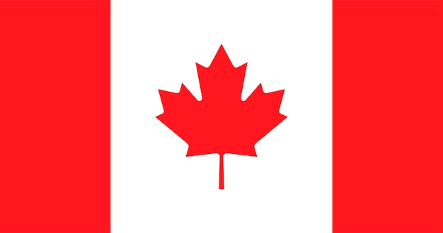 Illustration der kanada-flagge Kostenlosen Vektoren