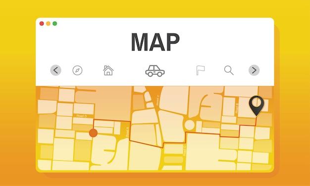 Illustration der karte Kostenlosen Vektoren
