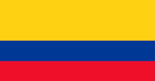 Illustration der kolumbien-flagge Kostenlosen Vektoren