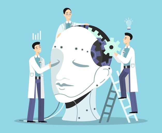 Illustration der künstlichen Intelligenz Kostenlose Vektoren