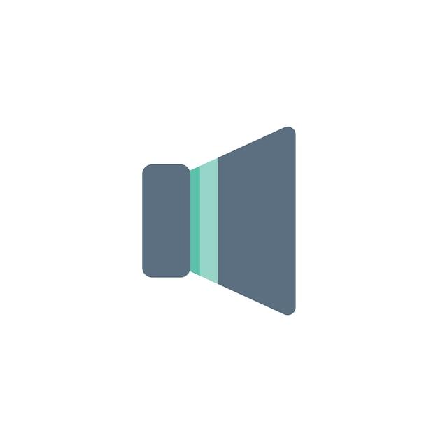 Illustration der lautsprecherikone Kostenlosen Vektoren