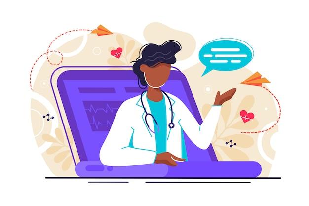 Illustration der medizinischen beratung Premium Vektoren