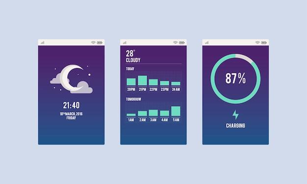 Illustration der mobilen anwendung Kostenlosen Vektoren