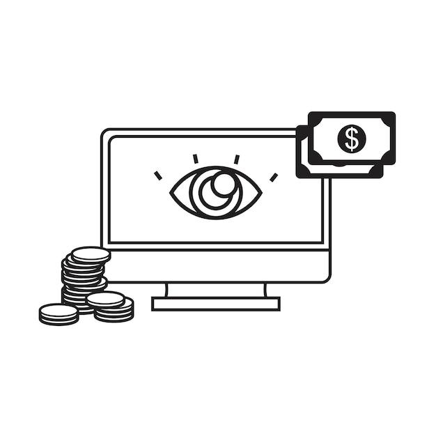 Illustration der online-zahlung Kostenlosen Vektoren