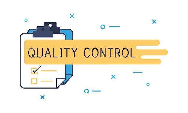 Illustration der qualitätskontrolle Kostenlosen Vektoren