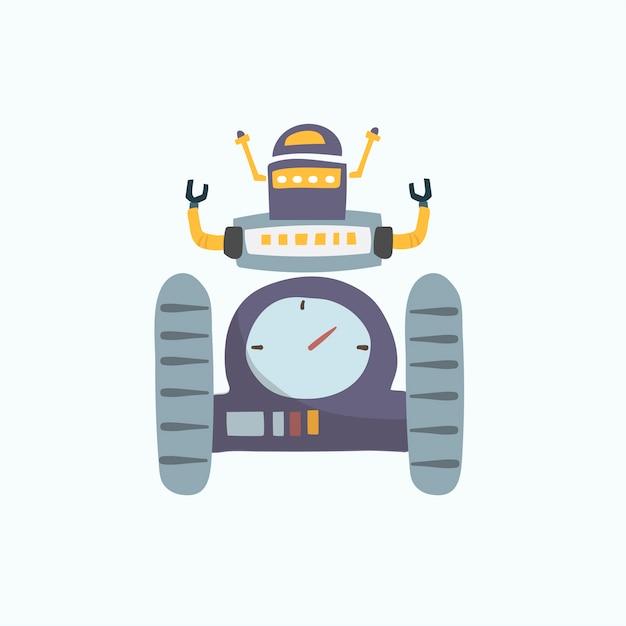 Illustration der robotervektorgrafik Kostenlosen Vektoren