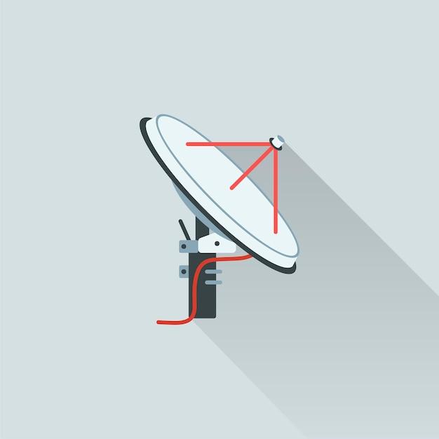Illustration der satellitenantenne Kostenlosen Vektoren