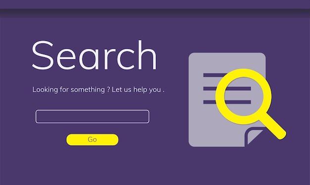 Illustration der suchenden website Kostenlosen Vektoren