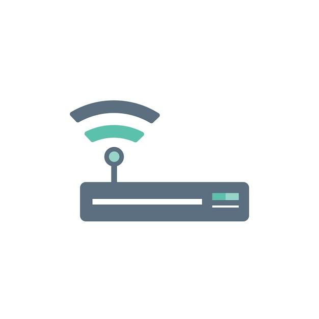 Illustration der wifi routerikone Kostenlosen Vektoren