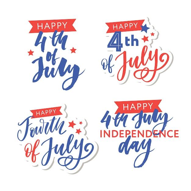 Illustration des 4. juli hintergrund mit amerikanischer flagge Premium Vektoren