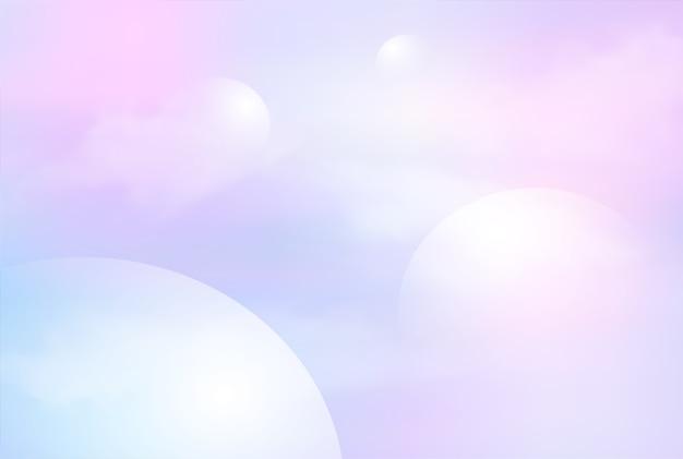 Illustration des fantasiegalaxiehintergrundes und der pastellfarbe. Premium Vektoren