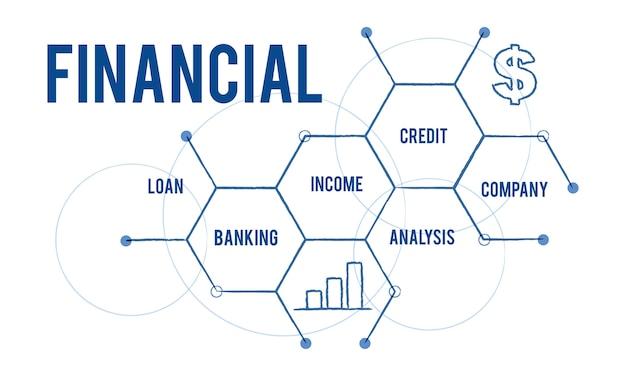 Illustration des finanzkonzeptes Kostenlosen Vektoren