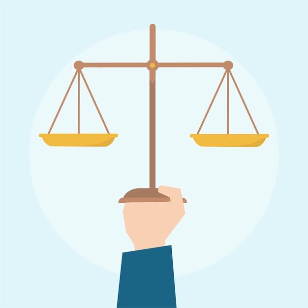 Illustration des gesetzes-konzept Kostenlosen Vektoren
