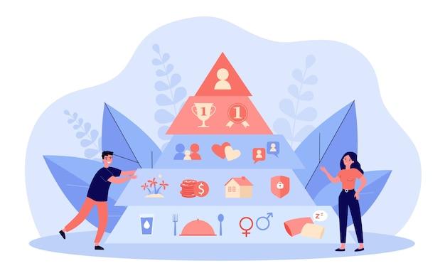 Illustration des hierarchiepyramidenkonzepts Premium Vektoren