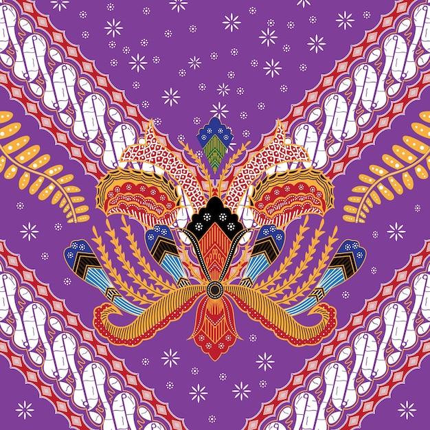 Illustration des indonesischen batik Premium Vektoren